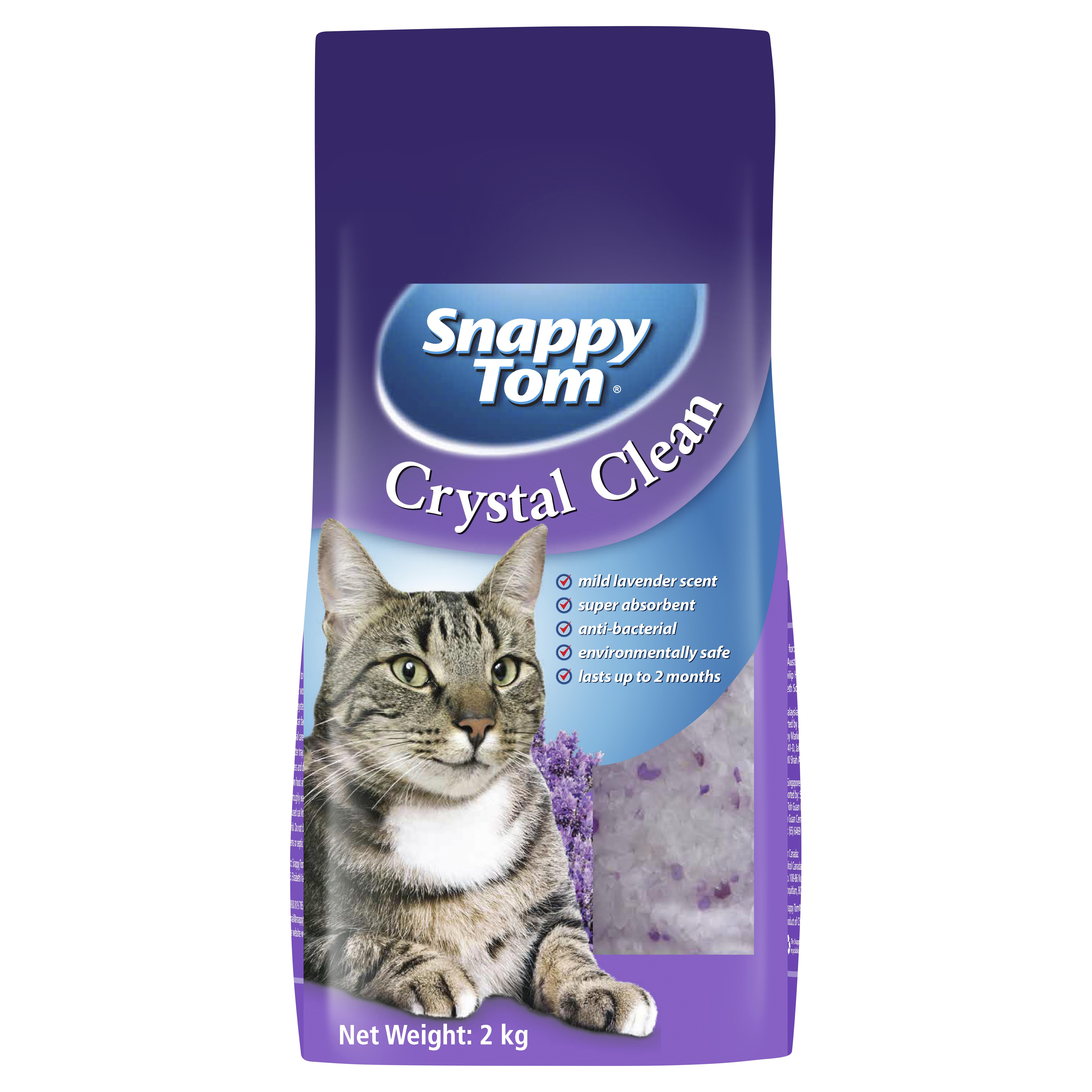 Snappy Tom Crystal Clean Premium Cat Litter Mild Lavender Scented 2kg-1