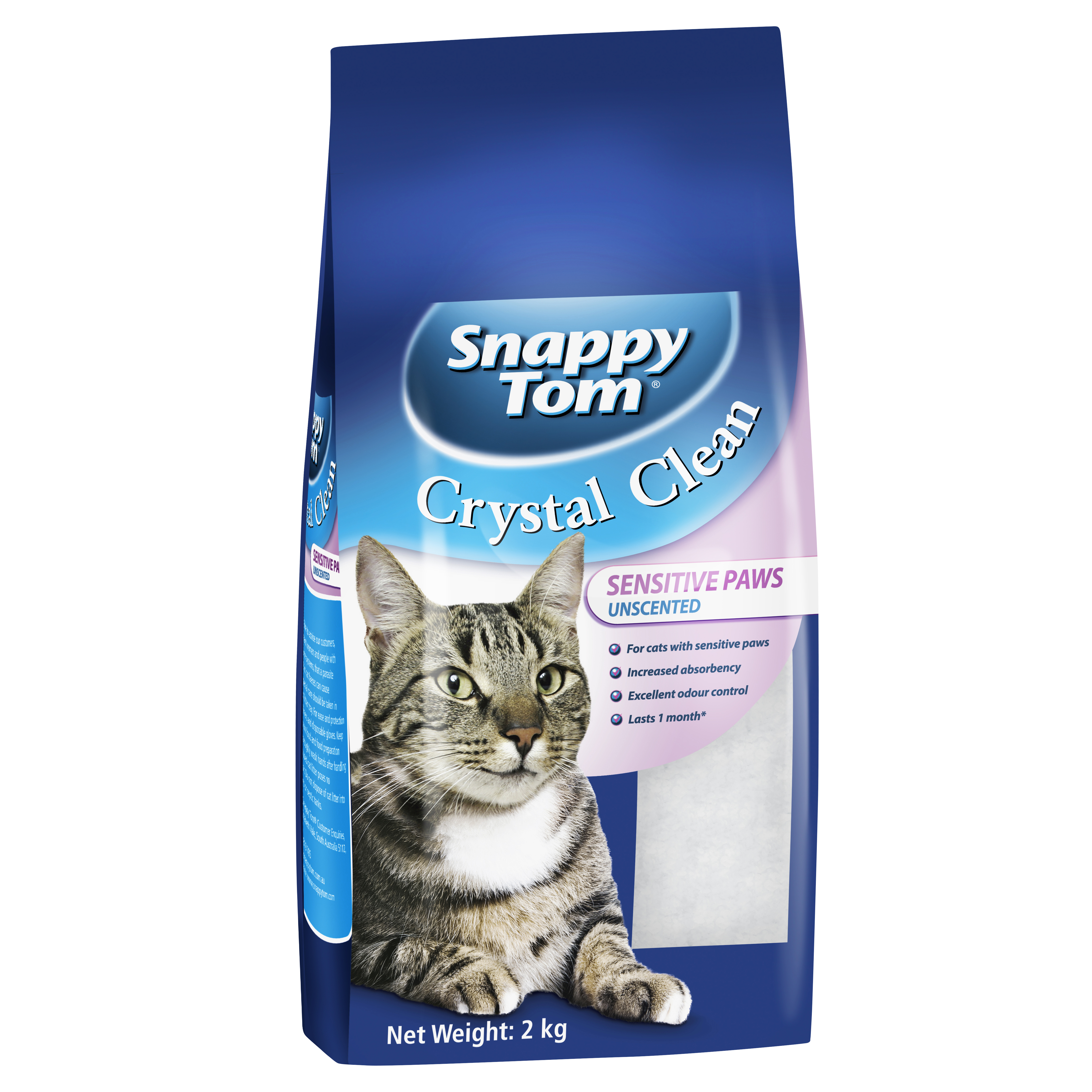 snappy-tom-crystal-clean-sensitive-paws-cat-litter-unscented-2kg-0