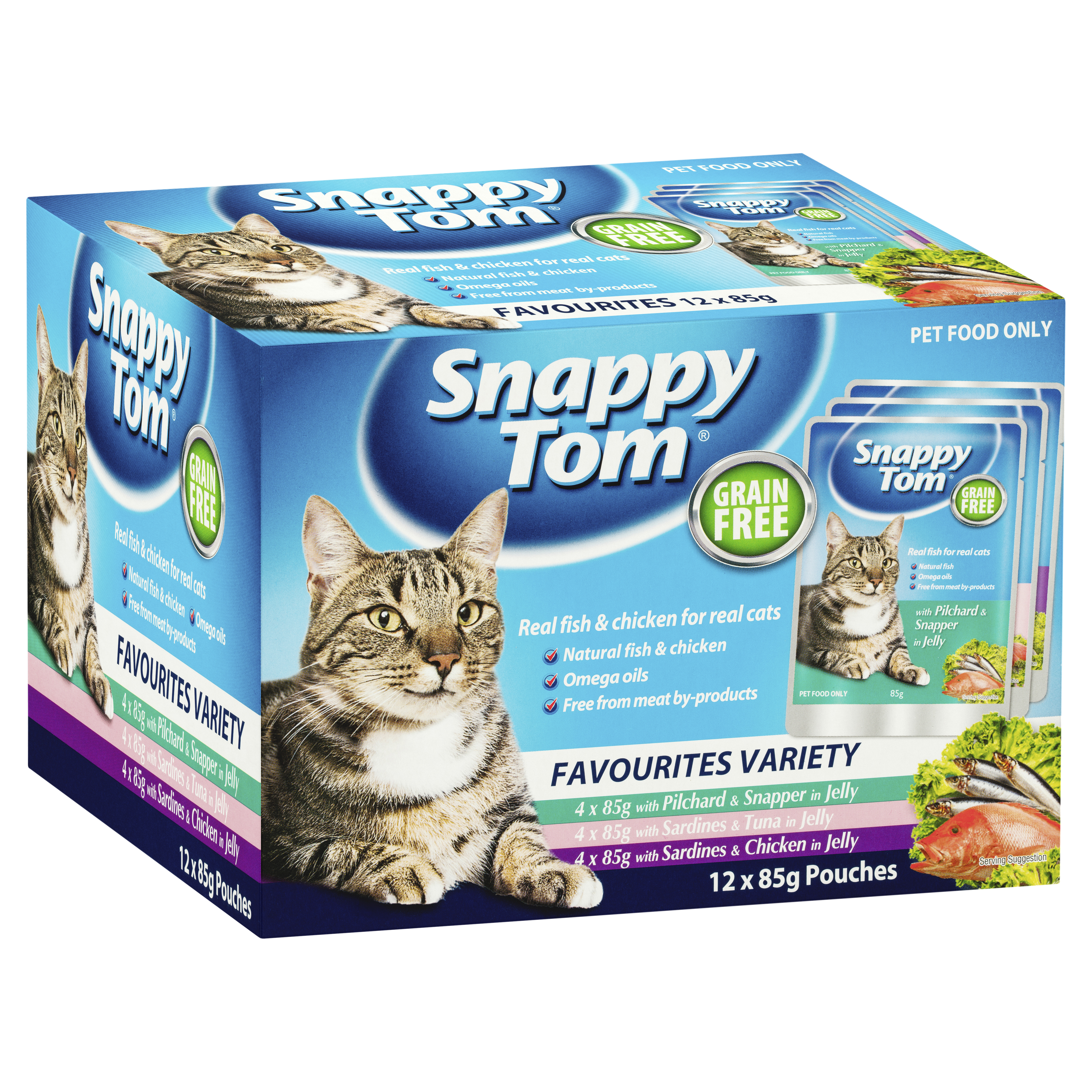 Snappy Tom Favourites Variety 12 x 85g-0